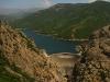 Vue sur le barrage et le lac de Tolla